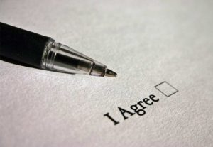 An agreement and pen