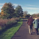 Older couple on a nature trail